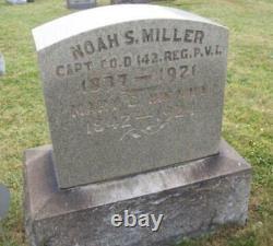 0528-1863 Civil War Lt Noah S. Miller CDV 142nd PA Inf Somerset County PA