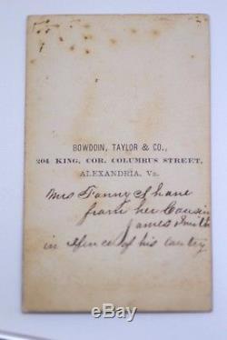 1800's CDV Photo's James R. Smith / George A. Shane Family Civil War Album