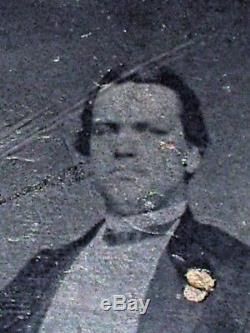 1850s Tintype Photo Civil War Gen. JAMES H LANE, STEPHEN DOUGLAS Abraham Lincoln