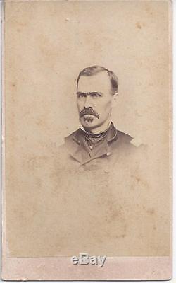 1860 CIVIL War CDV Identified Officer Bvt Brig Gen W H Davis 104th Pa Infantry