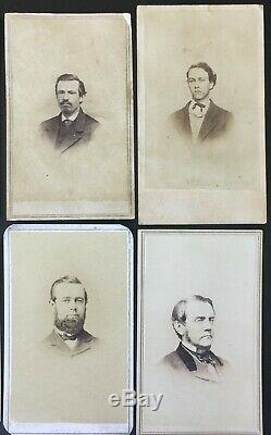 1860's CIVIL WAR ERA CDV's with REVENUE STAMPS 15 PHOTOS ALBUMEN & TINTYPE