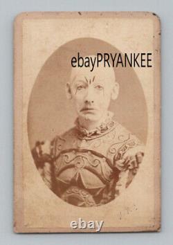 1860's GEORGE L FOX Antique CIRCUS CLOWN Original CDV Photo / CIVIL WAR SOLDIER