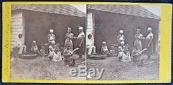 1860's Stereoview CIVIL WAR ERA Cuba SLAVERY, PLANTATION, BARRACOON, SLAVES