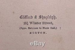 1860s Abraham Lincoln Engraving Civil War CDV Photo Clifford & Shapleigh Boston