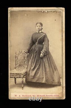 1860s CDV Photo African American Black Woman Missouri Civil War Tax Stamp