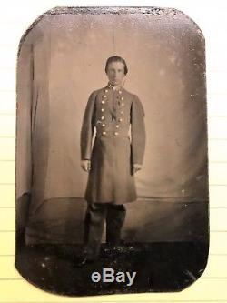 1860s CIVIL WAR TINTYPE PHOTOGRAPH OF CONFEDERATE SOLDIER