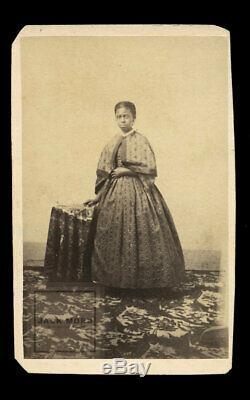 1860s / Civil War Era Photo African American Girl in Nice Dress Former Slave
