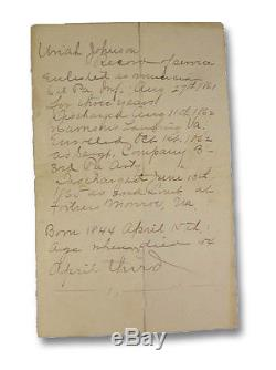1862 Civil War Diary Manuscript Union Musician Pennsylvania Ambrotypes Photos