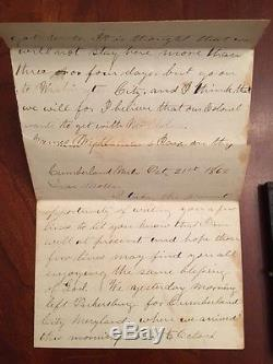 1862 Lot of Civil War Soldier Tintype Letters Stamp, OHIO 126th Infantry, Co. B