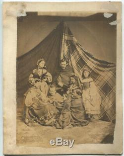 1863 Large Photograph Albany Civil War Sanitary Fair Fortune-Tellers Booth
