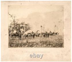 1864 Civil War Gardner Albumen Photo U. S. Military Telegraph Construction Corps