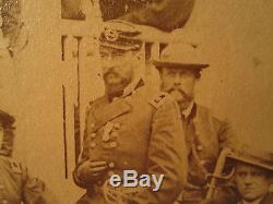 1864 Mathew Brady Stamp Sheridan Army Potomac White House CIVIL War Photo Scarce