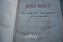 1865 Leffingwell Family Bible, Civil War photographs CDV Color Engravings