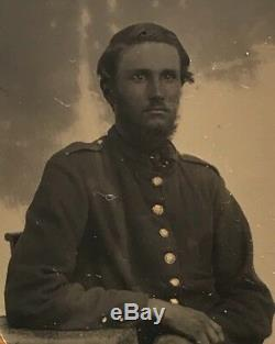 19th Century 9th Plate Tintype. Union Civil War Soldier. New York Estate