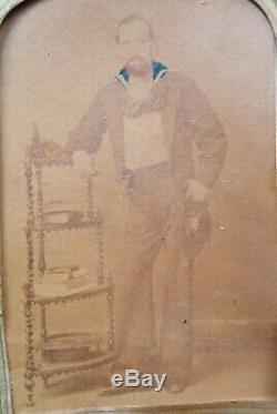 19th Century Sailors Folk Art Woolie Withphotos Tar & Woman Mathews Virginia Moon