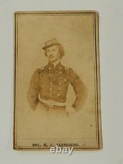 1rst Civil War Casualty Col Ellsworth real orig photo CDV Abraham Lincoln Friend
