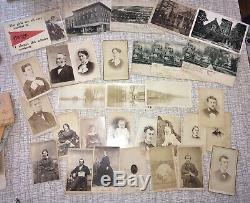 200 historic OWEGO New York ephemera photos letters diaries Civil War+ LOT