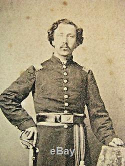 2nd Iowa CIVIL War Identified Armed Officer CDV Photo