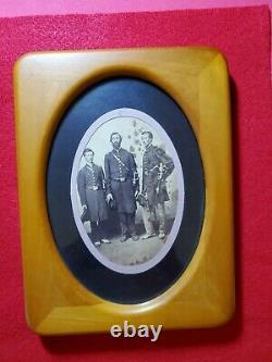 3 Civil War Officers Albumen Image