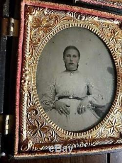 3 Pieces Tintype Photos ID'd Civil War Soldier & Wife Missouri or Arkansas 1860s