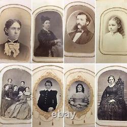 48 CDV FULL CIVIL WAR ERA Album, Mass, VT, N. Y, ID'd Mr & Mrs Samuel Standish