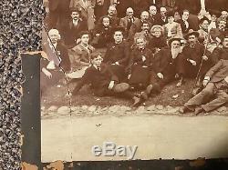 6th PA CAVALRY GETTYSBURG CIVIL WAR BATTLE VETERANS DEVILS DEN 1904 PHOTO TIPTON