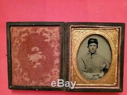 9th Plate Civil War Soldier Ambrotype