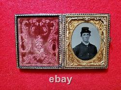 9th Plate Tintype Of Young CIVIL War Soldier