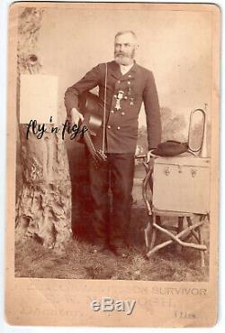 ANDERSONVILLE & SULTANA SURVIVOR E. W. McINTOSH original cabinet photo CIVIL WAR