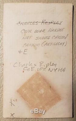 ANTIQUE CIVIL WAR ID'D CHARLES RIPLEY COMPANY E 1Oth REGIMENT NY FINE CDV PHOTO