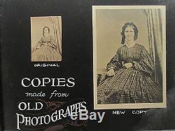 ANTIQUE TURN 19th CENTURY PHOTOGRAPHERS ADVERTISING SIGN CIVIL WAR ERA CDV PHOTO