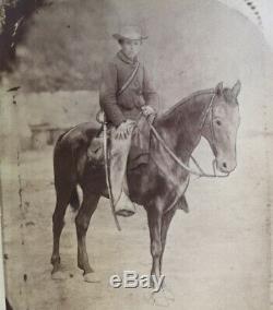 Albuemen Photograph Of Civil War Soldier On Horseback