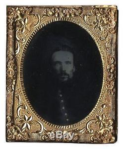 Ambrotype Civil War Photo Uniform Union Soldier Photo Photograph Portrait 1860's