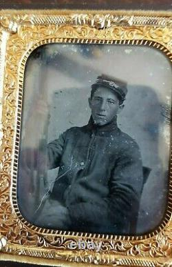 Ambrotype Of A CIVIL War Soldier Thermoplastic Case