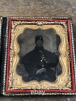 American Civil War Tintype Photograph Id KIA Bull Run Soldier 1/6th Plate
