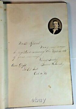 Antique 1860 Autograph Album Fort Edward Institute Civil War Era Some Photos