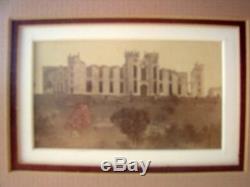 Antique 1865 Photograph Civil War Shelled Barracks Virginia Military Institute