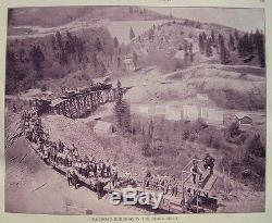 Antique AMERICAN US PHOTOS Railroad 1894 OLD WEST INDIAN Slavery SOUTH Civil War