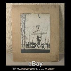 Antique Albumen Photograph Civil War GAR Gathering Westbrook Ct