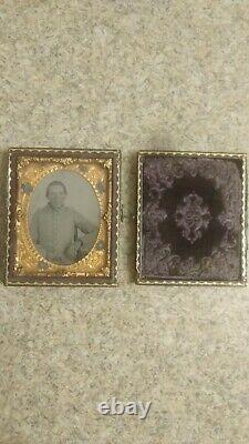 Antique Ambrotype Civil War Tin Type