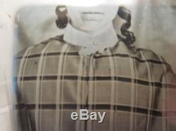 Antique American Beauty Daguerreotype Photo Pre CIVIL War Fashion Artistic Curls