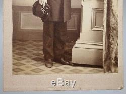 Antique American Civil War Soldier CDV Carte De Visite Photo, Uniform, Hat