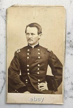 Antique CDV Photograph Union Major General Wesley Merritt Brady CIVIL War