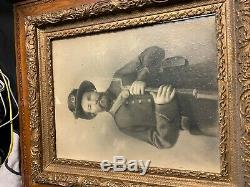 Antique CIVIL WAR ERA PICTURE FRAME 31x27x3