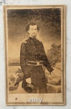 Antique CIVIL War CDV Photograph Confederate General Zollicoffer Csa Anthony