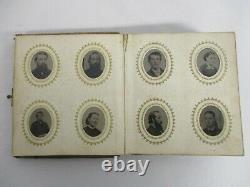 Antique CIVIL War Era 96 Miniature Tintype Photographs Photo Album