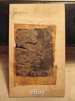 Antique CIVIL War Era Id'd Josie Baton Louisiana Canon Eagle Flag Tintype Photo