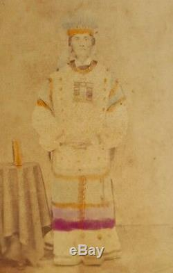 Antique CIVIL War Era Jacksonville Fl Masonic Or Ethnic Oddity Man ID CDV Photo