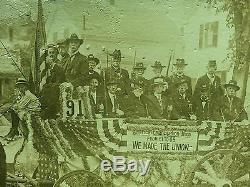 Antique CIVIL War Gar 91 We Made The Union Flag Middleboro Ma Rppc Photo