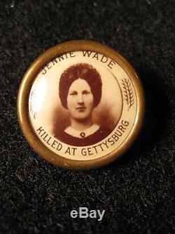 Antique CIVIL War Gettysburg Pa Casualty Civilian Casualty Jennie Wade Photo Pin